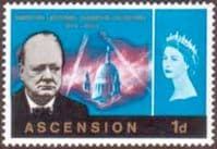 Ascension 1966 Churchill SG 91 Fine Mint
