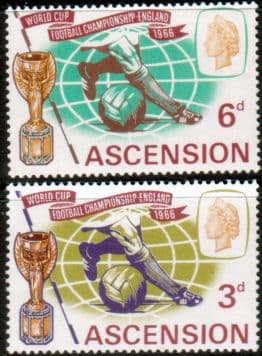 Postage Stamps Ascension 1966 Football World Cup Set Fine Mint