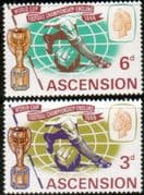 Ascension 1966 Football World Cup Set Fine Mint