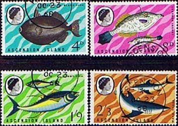 Postage Stamps Ascension Island 1968 Fish Set Fine Used
