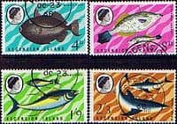 Ascension Island 1968 Fish Set Fine Used