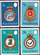 Ascension Island 1970 Naval Crests Set Fine Mint