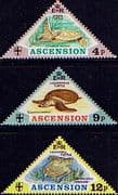 Ascension Island 1973 Turtles Set Fine Mint