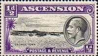 Ascension Islands 1934 King George SG 21 George Town Fine Mint