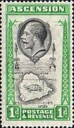 Ascension Islands 1934 King George SG 22 Map Fine Mint