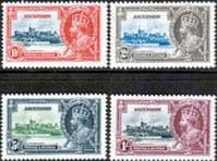 Ascension Islands 1935 King George V Silver Jubilee Set Fine Mint
