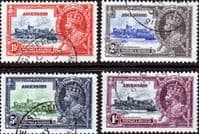 Ascension Islands 1935 King George V Silver Jubilee Set Fine Used
