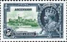 Ascension Islands Stamps 1935 King George V Silver Jubilee SG 33 Fine Mint Scott 35