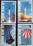 Ascension Islands 1987 First American Manned Earth Orbit Set Fine Mint