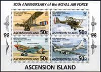 Ascension Islands 1998 Royal Air Force Miniature SheetFine Mint