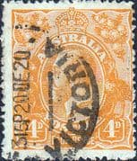 Australia 1914 SG 22c King George V Head Fine Used