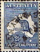 Australia 1915 SG 25 Kangaroo on Map Fine Used