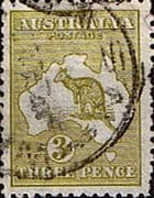 Australia 1915 SG 37 Kangaroo on Map Fine Used