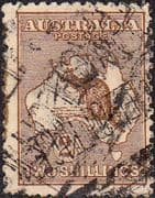 Australia 1915 SG 41 Kangaroo on Map Fine Used