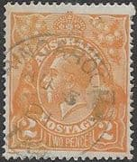 Australia 1918 SG 62a King George V Head Fine Used