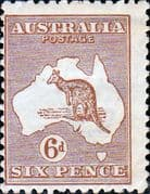 Australia 1923 SG 73 Kangaroo on Map Fine Mint
