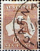 Australia 1923 SG 73 Kangaroo on Map Fine Used