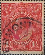 Australia 1924 SG 77 King George V Head Fine Used