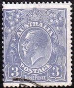 Australia 1926 SG 100 King George V Head Fine Used