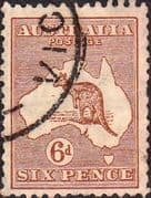Australia 1929 SG 107 Kangaroo on Map Fine Used