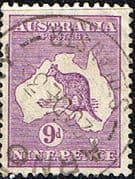 Australia 1929 SG 108 Kangaroo on Map Fine Used