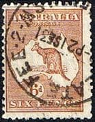Australia 1932 SG 132 Kangaroo on Map Fine Used