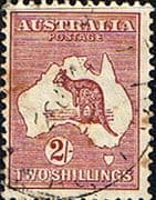 Australia 1932 SG 134 Kangaroo on Map Fine Used