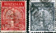 Australia 1935 Anzac Set Good Used