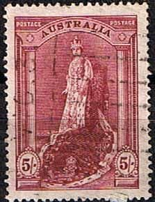 Australia 1937 SG 176a Queen in Robes Fine Used