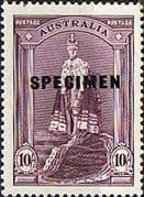 Australia 1937 SG 177 King in Robes SPECIMEN Fine Mint