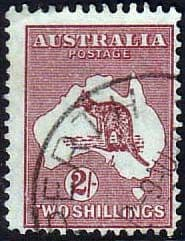 Australian Stamps Australia 1945 Re-Engraved Kangaroo Fine Used SG 212 Scott 206