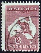 Australia 1945 Re-Engraved Kangaroo Fine Used