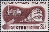 Australia 1954 SG 278 Railway Centenary Trains Fine Mint