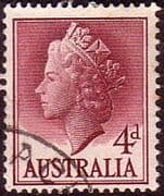 Australia 1955 SG 282a Queens Head Bas Relief Fine Used