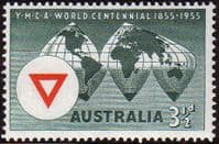 Australia 1955 SG 286 World Centenary of Y.M.C.A. Fine Mint