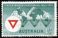 Australia 1955 SG 286 World Centenary of Y.M.C.A. Fine Used