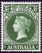 Australia 1955 SG 288 First South Australian Postage Stamps Fine Mint