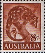 Australia 1959 SG 317 Animal Tiger Cat Fine Mint
