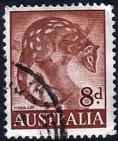 Australian Stamps Australia1959 SG 317 Animal Tiger Cat Fine Used SG 317 Scott 321