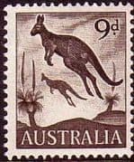 Australia 1959 SG 318 Animal Eastern Grey Kangaroo Fine Mint