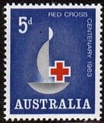 Australia 1963 Red Cross Centenary Fine Mint