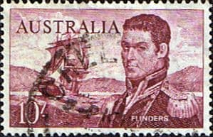 Australian Stamp Australia 1963 SG 358 Captain Flinders Fine Used Scott 377