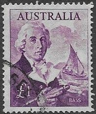 Australian Stamps Australia 1963 SG 359 Bass and Ship Fine Mint Scott 378