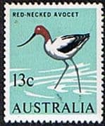 Australia 1966 SG 392 Red Necked Avocrt Bird Fine Mint