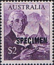 Stamps Australia 1966 SG 402 Bass and Whaleboat Overprint SPECIMEN Fine Mint