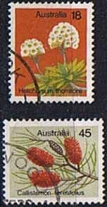 Australia 1975 Wild Flowers Set Fine Used