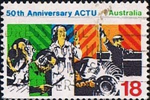 Postage Stamps Australia 1977 Council of Trade Unions Fine Used SG 654 Scott 646