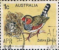 Stamps Australia 1978 Birds Spotted-sided Finch Fine Used SG 669 Scott 713
