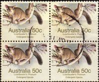 Australia 1981 Leadbeater's Possum SG 796 Block of 4 Fine Used