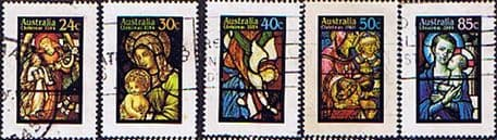 Stamps Australia 1984 Christmas. Stained-glass Windows Set Fine Used